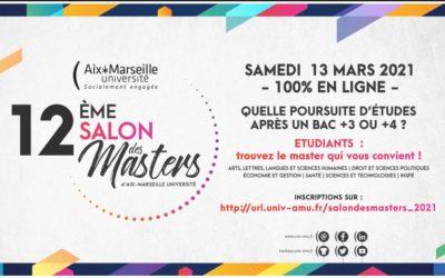 Salon virtuel des Masters Samedi 13 mars 2021